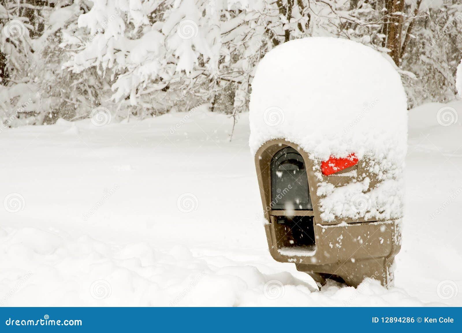 Snowy Mailbox - JPG Photos