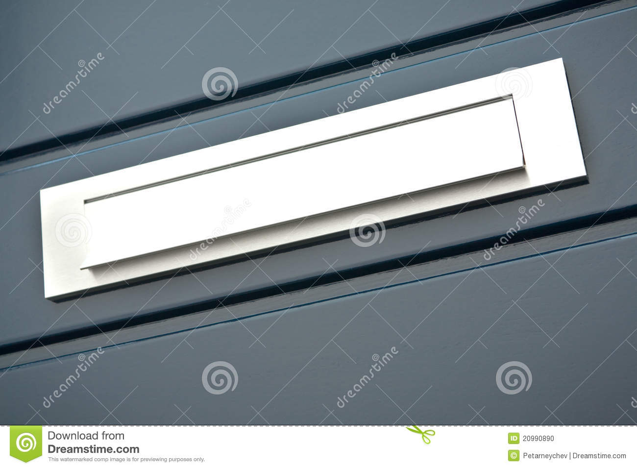 Mailbox in the front door of a house & Mailbox In The Front Door Of A House Stock Photo - Image of domestic ...