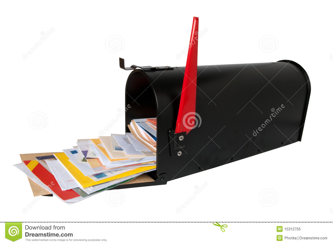 Mailbox Full Of Mail Royalty Free Stock Photo Image
