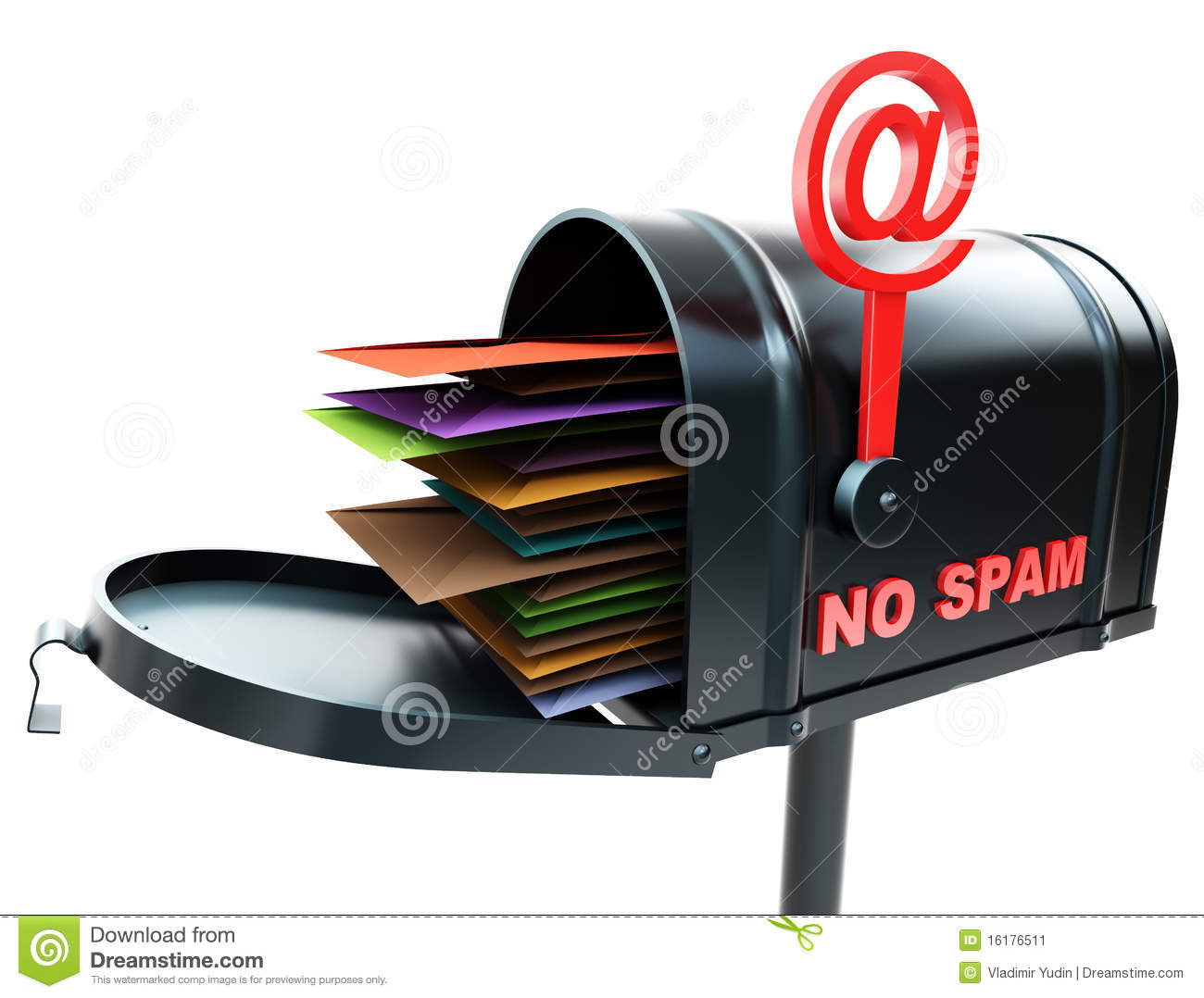 Mailbox No Spam Stock Image - Image: 16176511