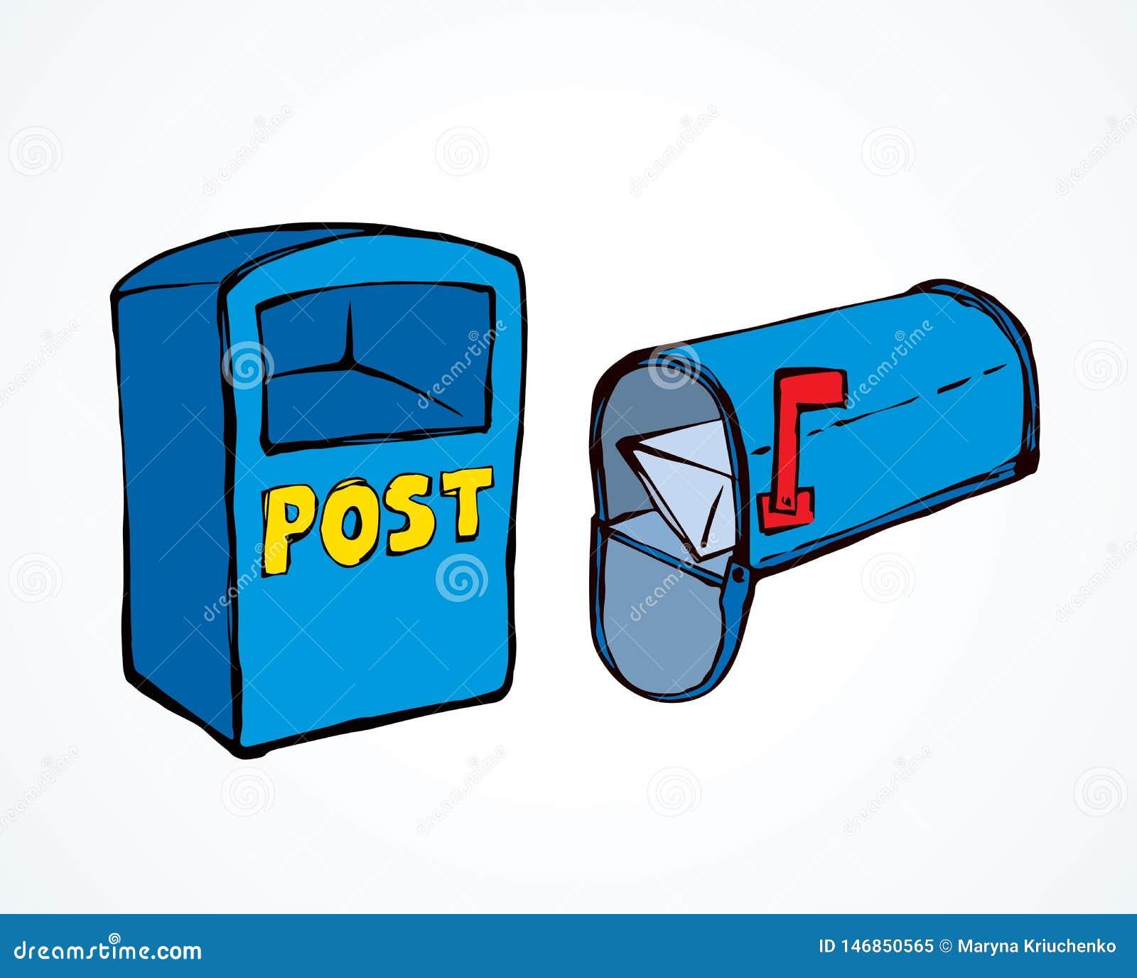 Mailbox rysuje t?a trawy kwiecistego wektora
