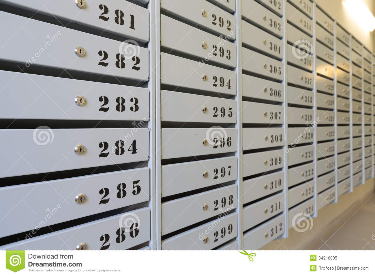 Mailboxes stock image. Image of receive, postage, letter - 34216835