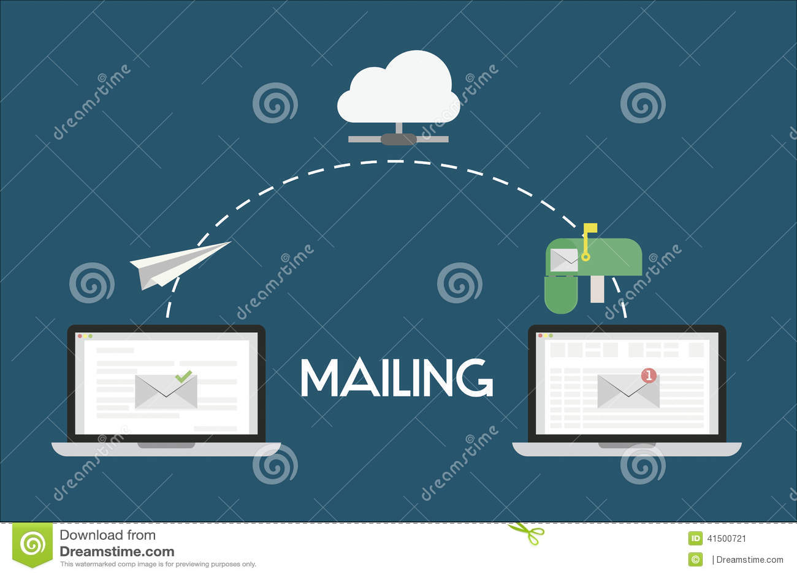 Mailing Flat Illustration