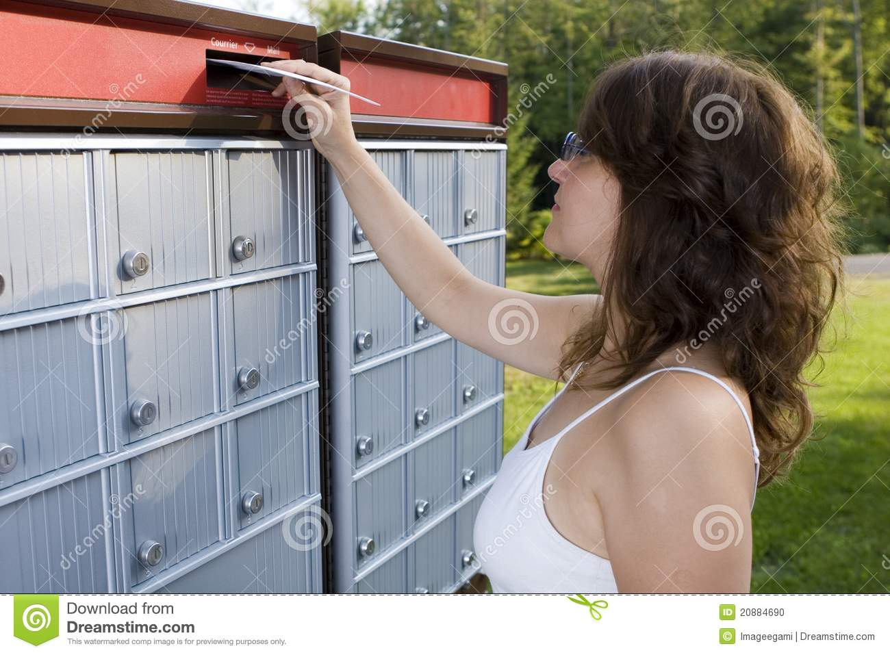 Mailing A Letter Stock Photo Image Of Employment Alone