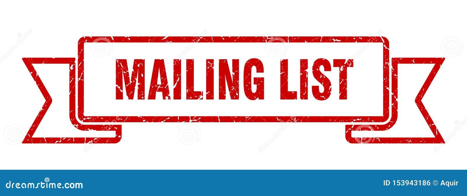 mailing list ribbon.