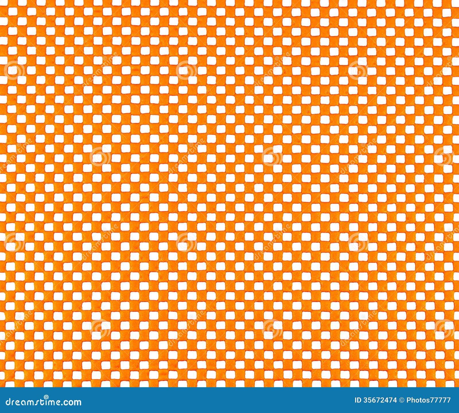 Maille en caoutchouc orange
