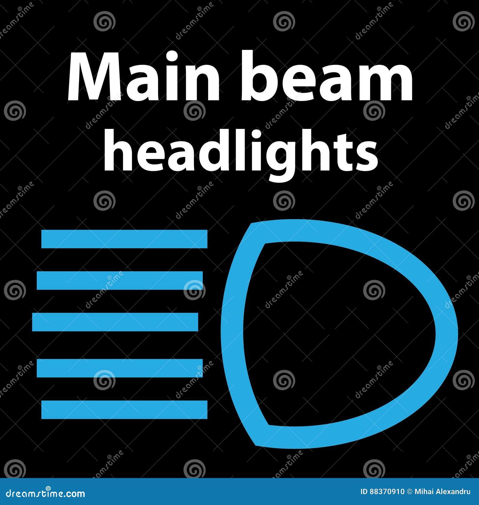 Dipped Beam Symbol >> Showing post & media for Main beam symbol | www.symbolsnet.com