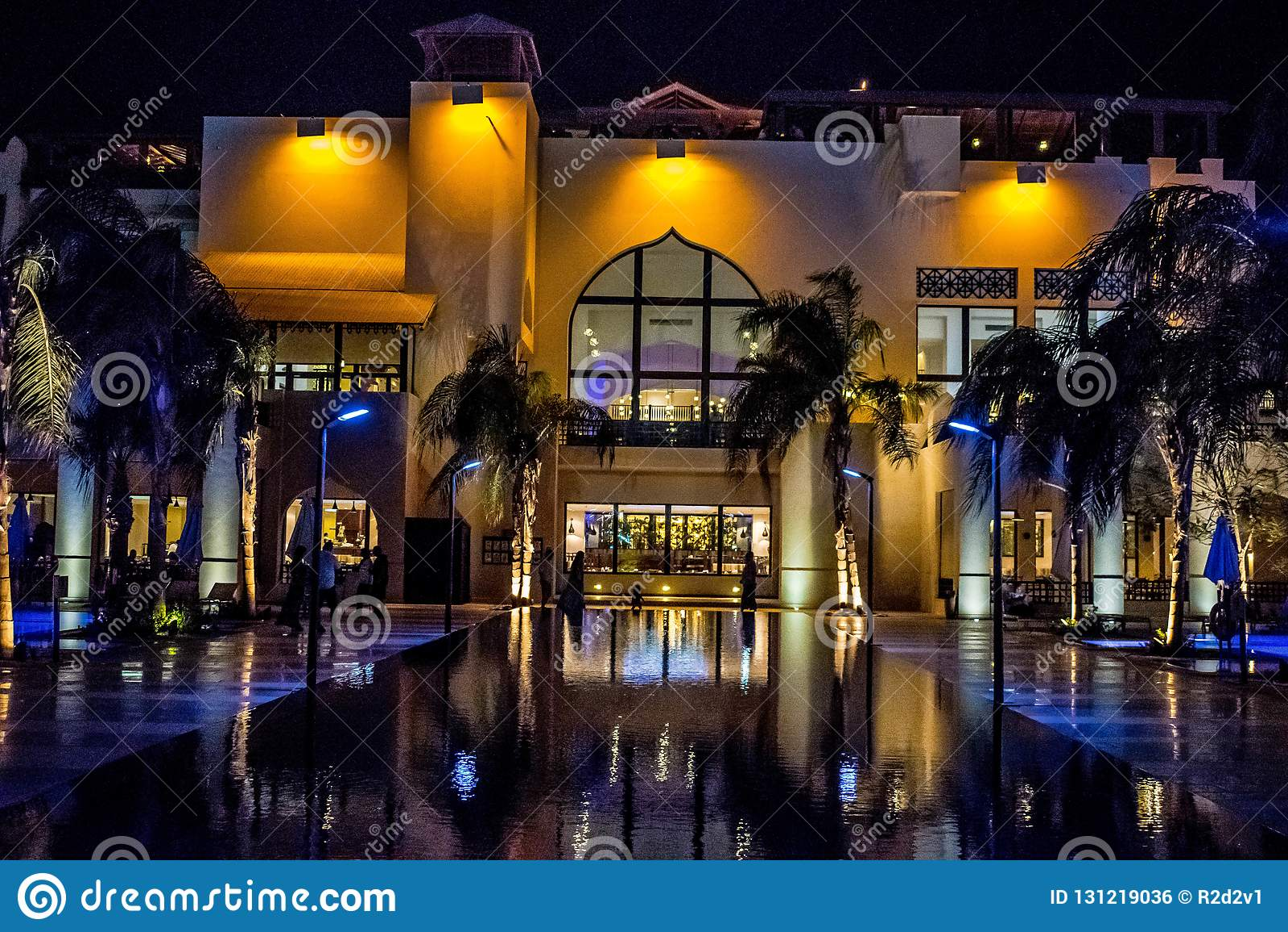 Five star hotel at night