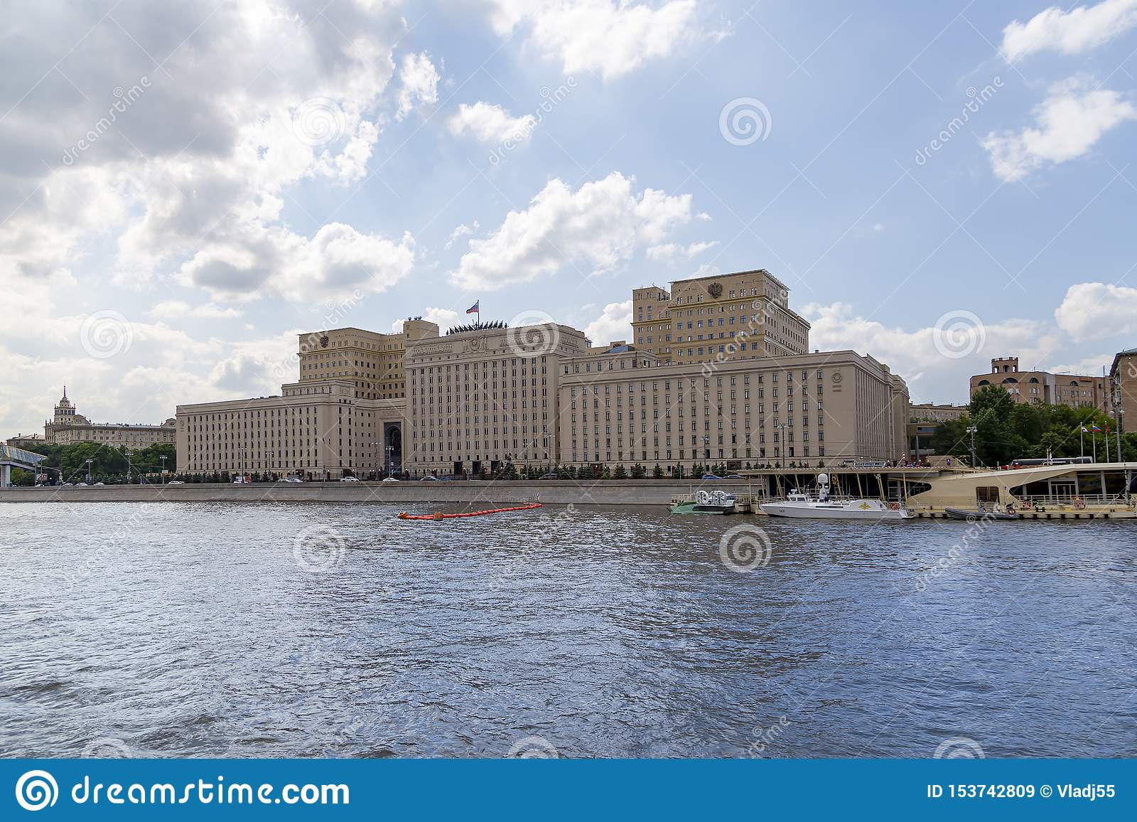 Main Building of the Ministry of Defence of the Russian Federation Minoboron, Moscow, Russia