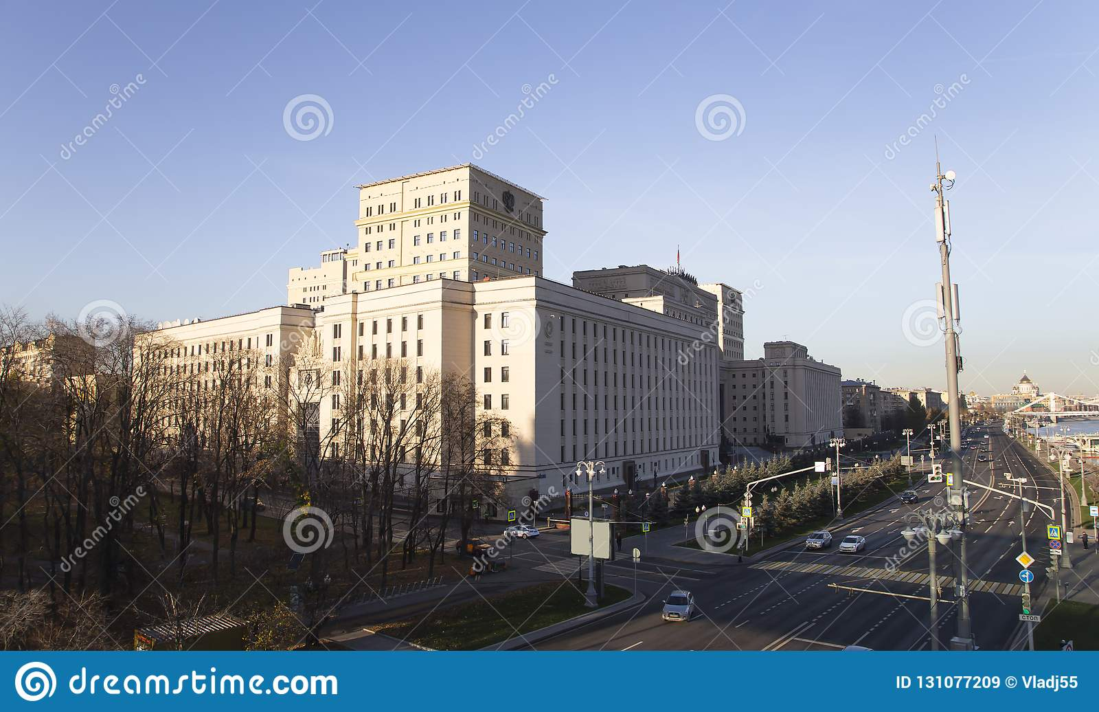 Main Building of the Ministry of Defence of the Russian Federation Minoboron. Moscow, Russia