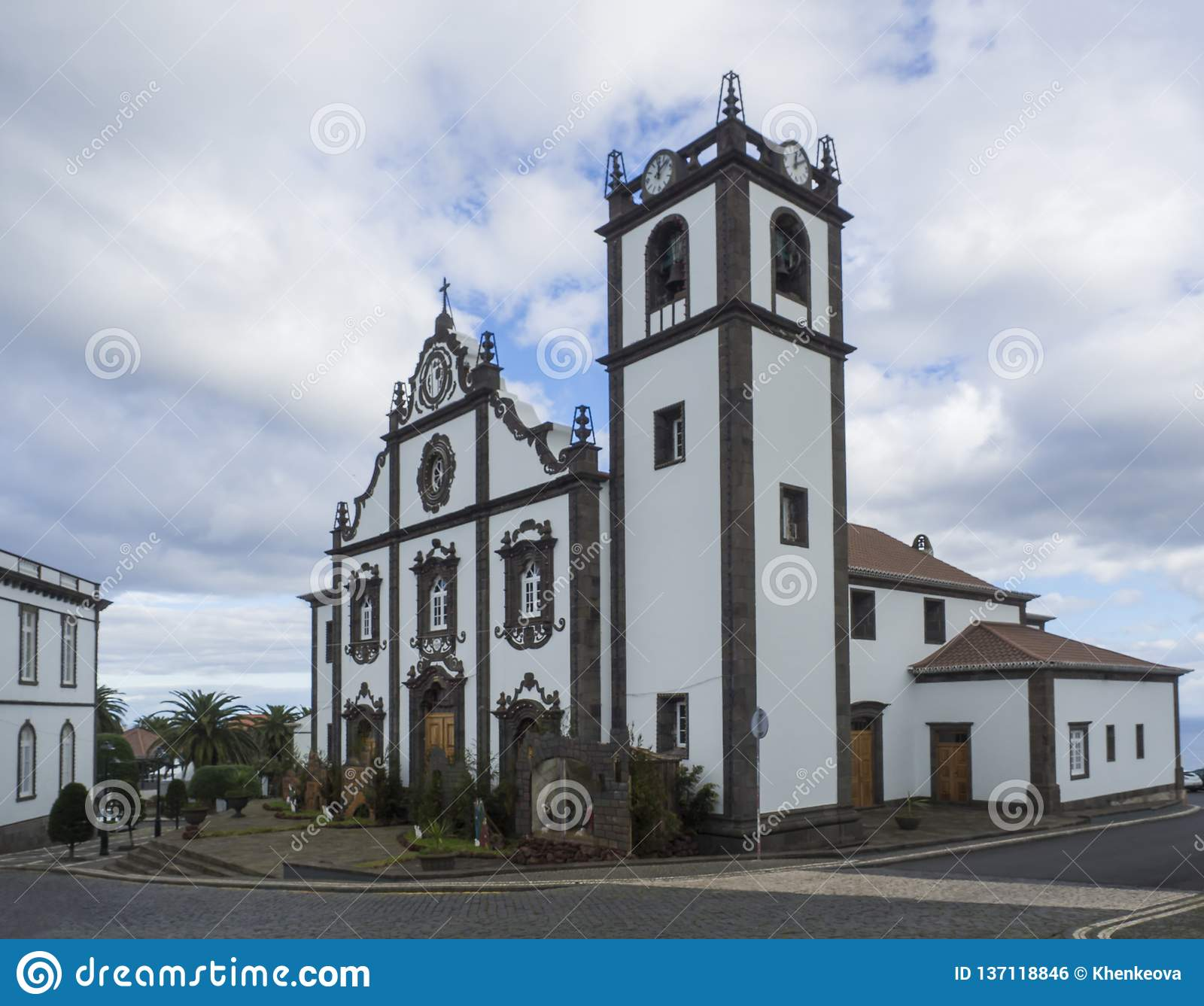 The Main Church Of Nordeste On The Island Of Sao Miguel With