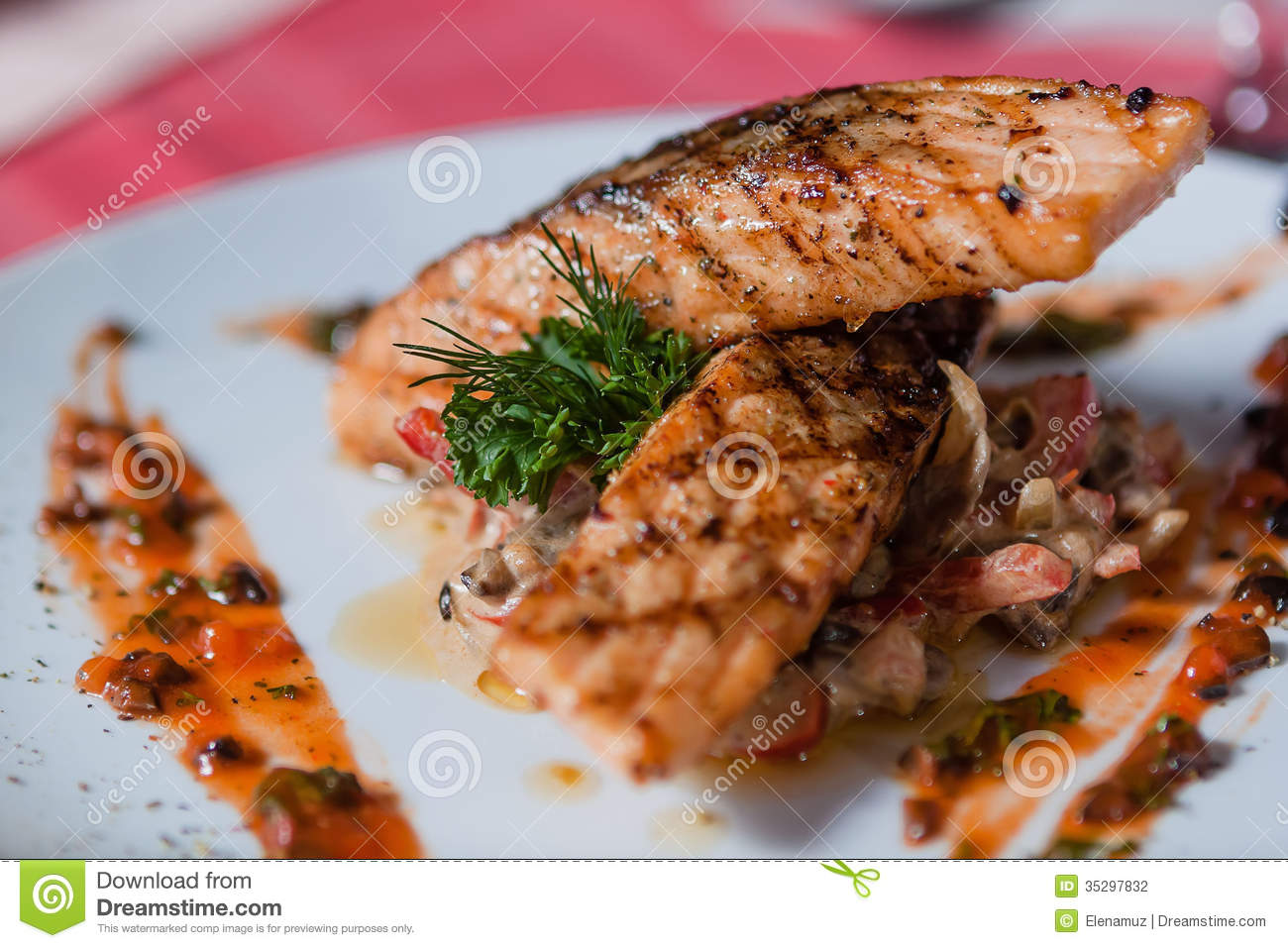 Main course stock photo image of pork lunch course for Fish on main