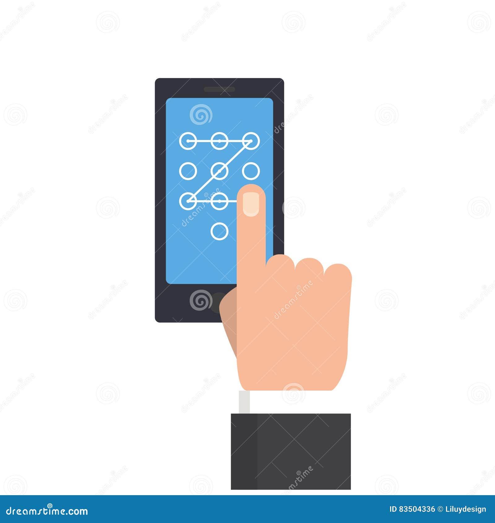 Main d homme d affaires exécutant le geste de contact pour ouvrir le téléphone