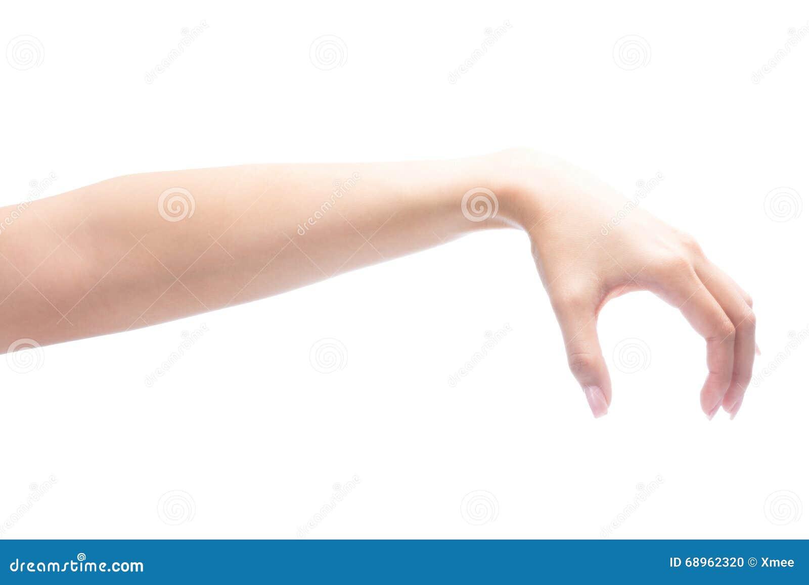 Main de geste de femme tenant l objet