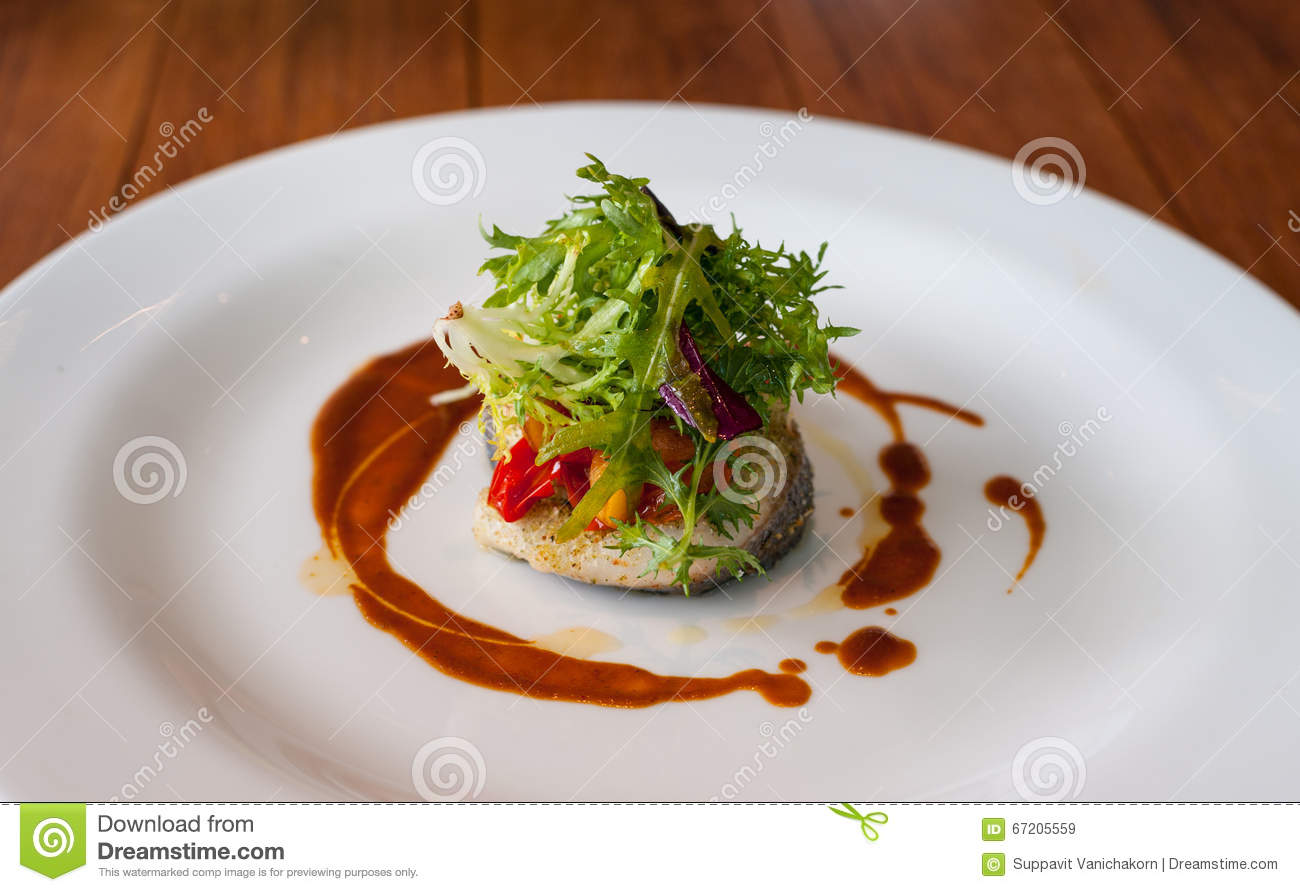 Main dish vegetable with fish stock image image 67205559 for Fish on main