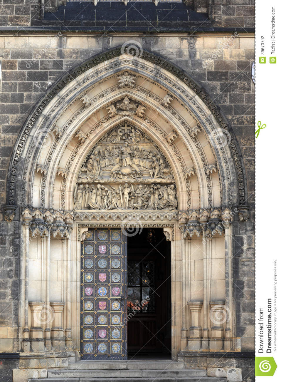 Royalty-Free Stock Photo & Main door of the cathedral stock photo. Image of gate - 39670792 pezcame.com