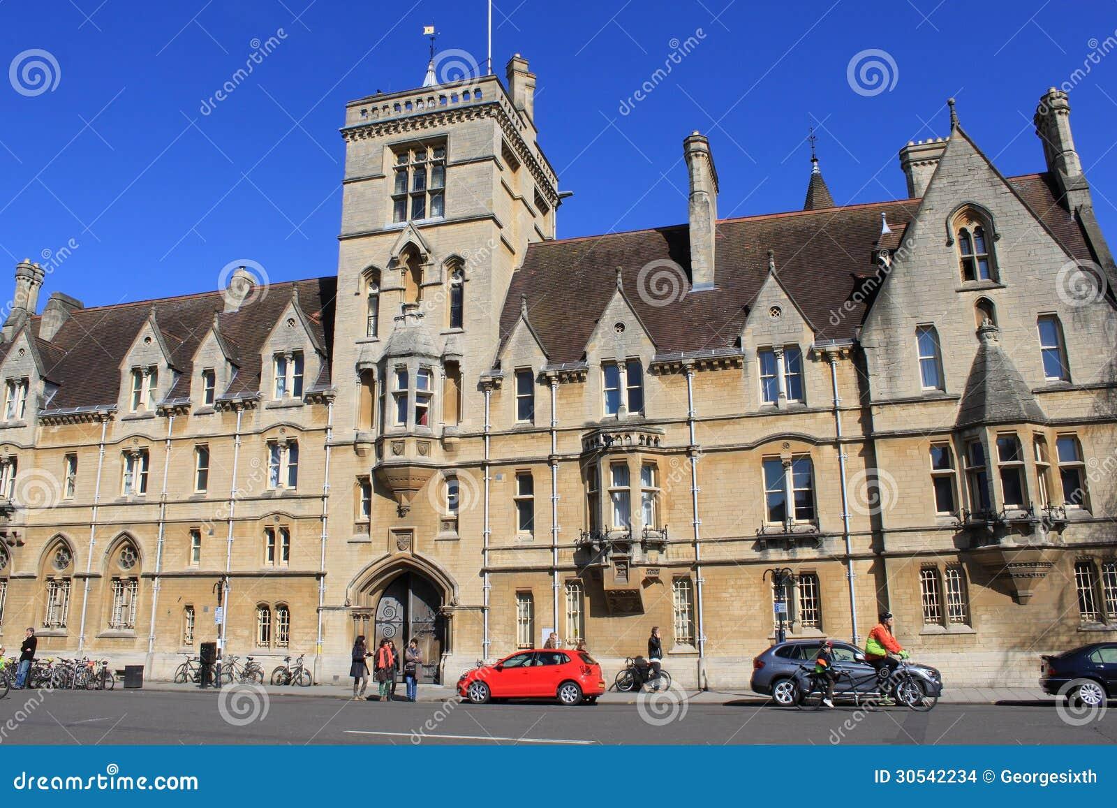 Main Entrance Balliol College Oxford England Editorial