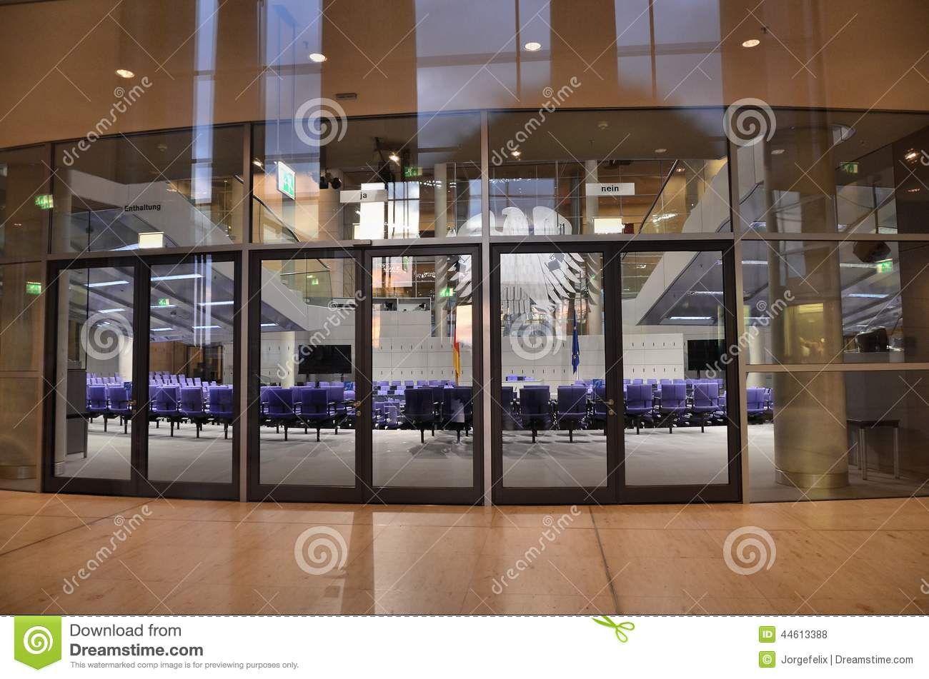 Main Entrance To The German Parliament Stock Photo Image Of