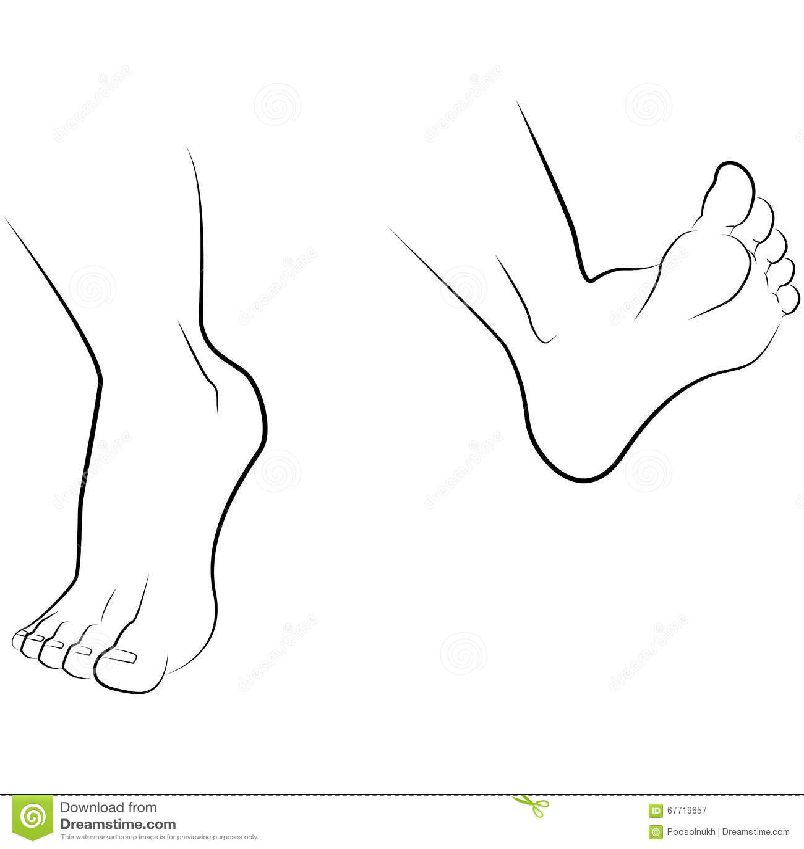 Main et pied de dessin illustration stock illustration du - Main en dessin ...