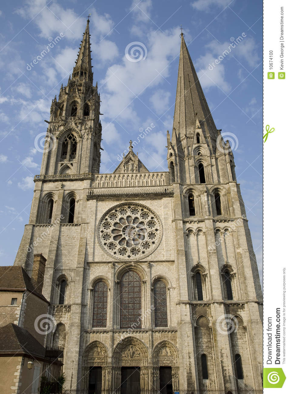 main facade chartres cathedral france stock photo. Black Bedroom Furniture Sets. Home Design Ideas