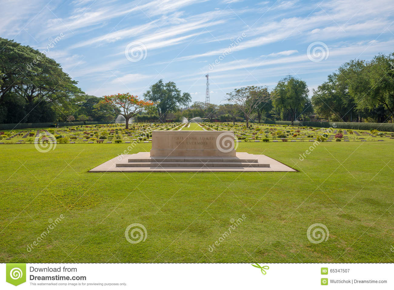 Main Gate Of Chong-Kai War Cemetery At Kanchanaburi ...