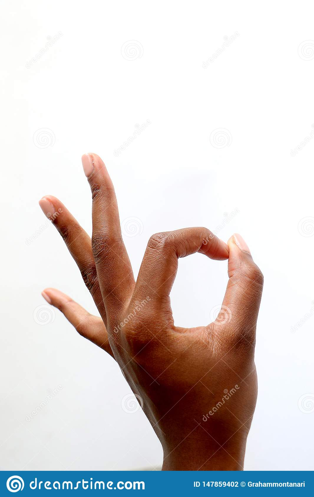 Main indienne d africain noir renon?ant ? des pouces