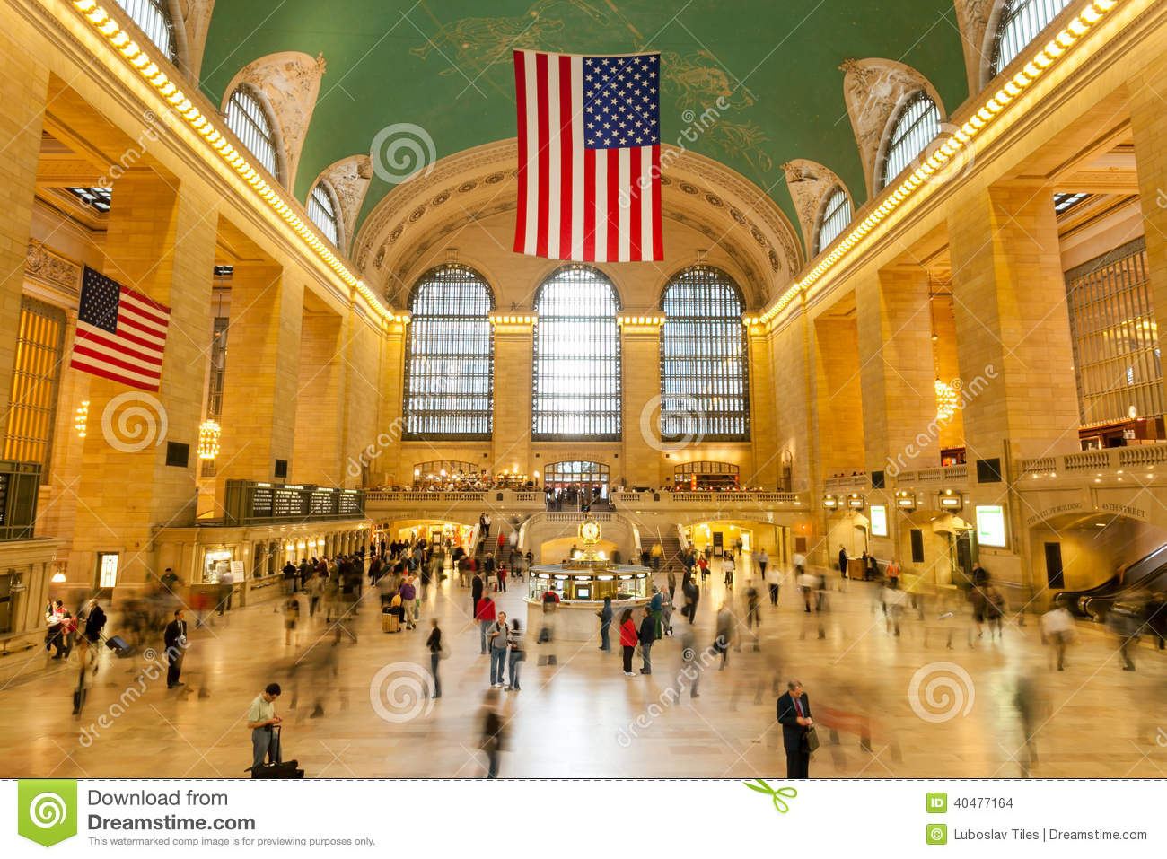 Main Lobby At Grand Central Terminal In New York City Editorial Stock Image Image 40477164