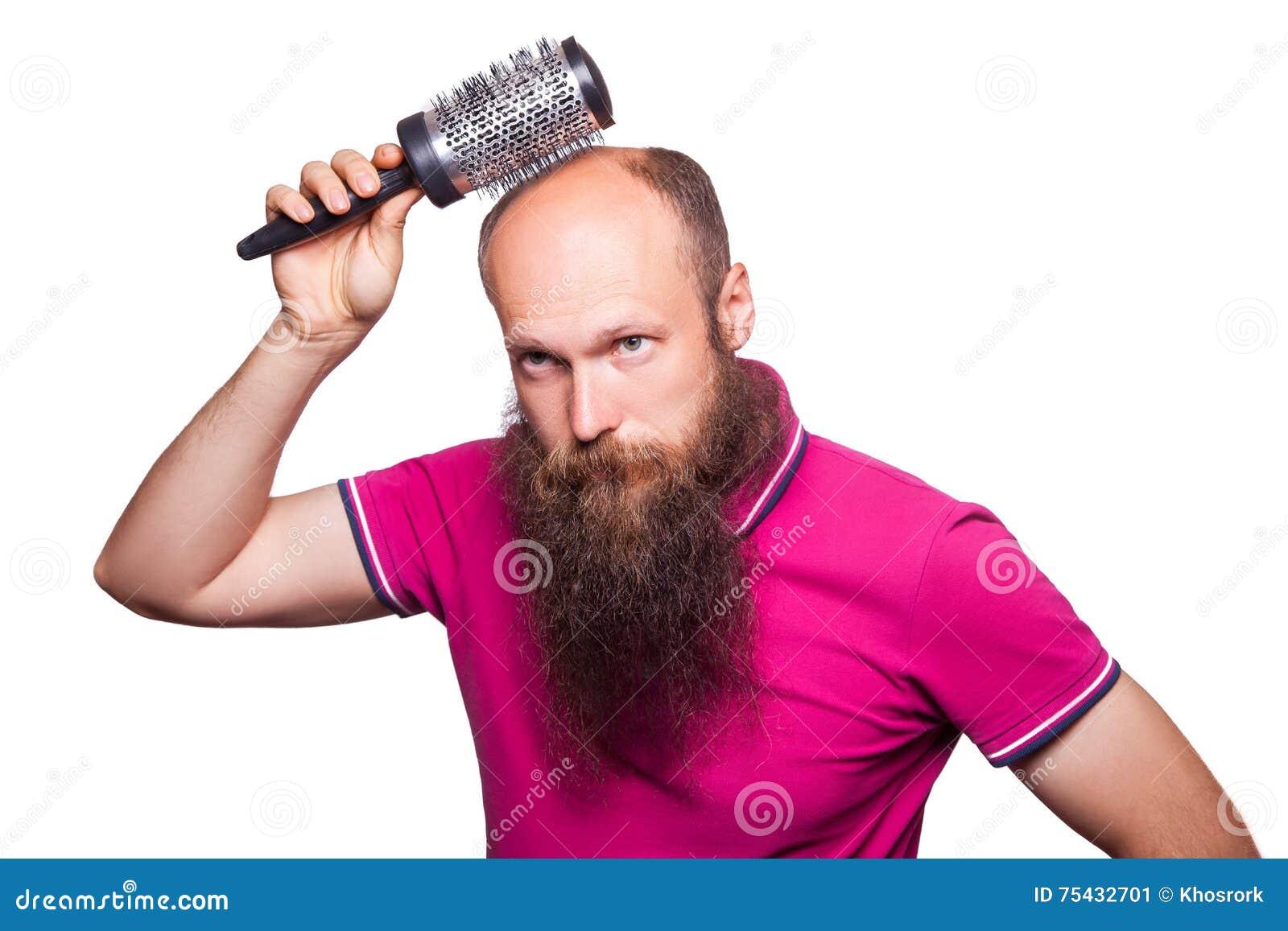 Patches chauves des hommes sur les cГґtГ©s de la coiffure