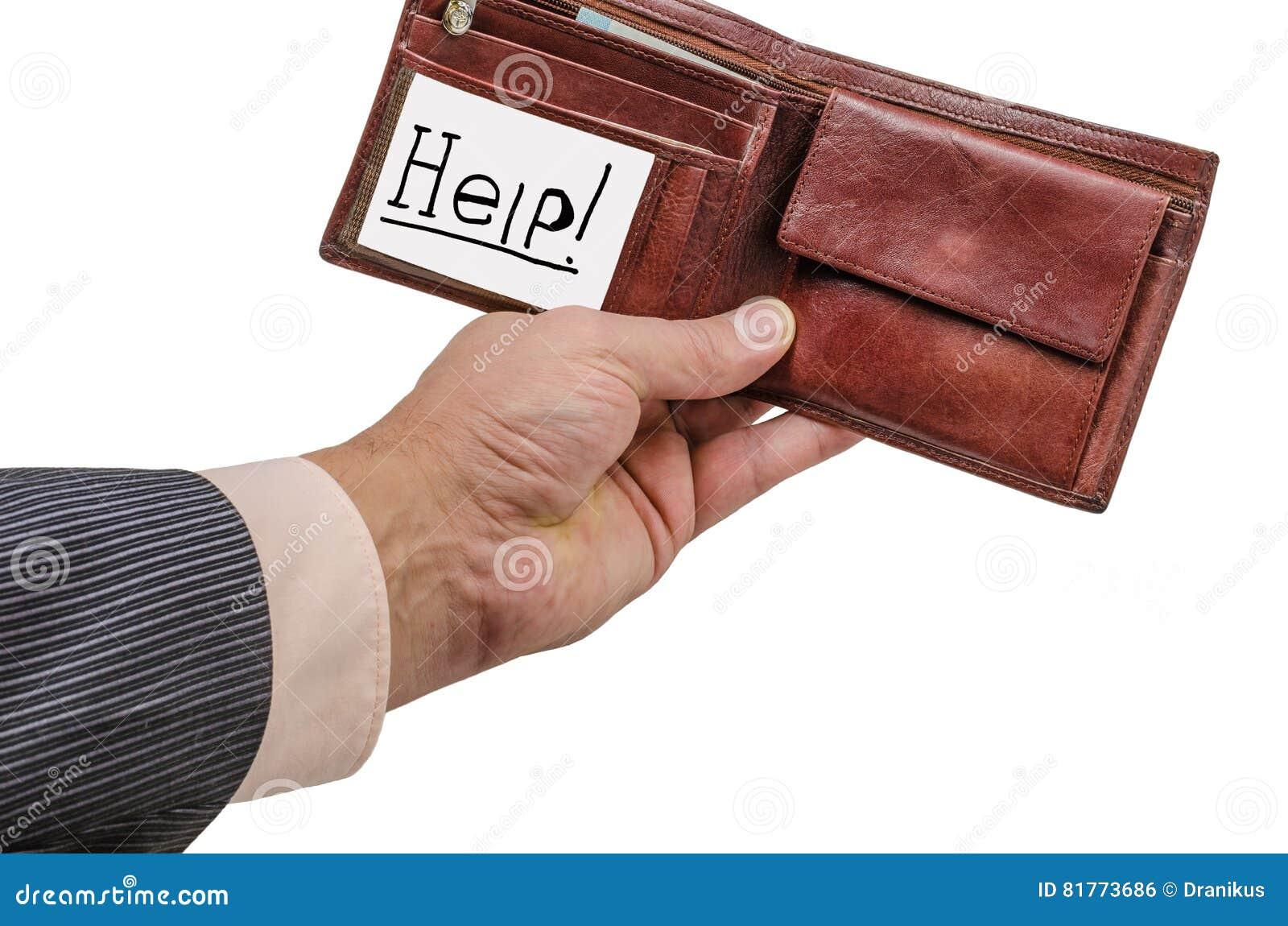 Main, Portefeuille, Affaires, Cuir, Argent,