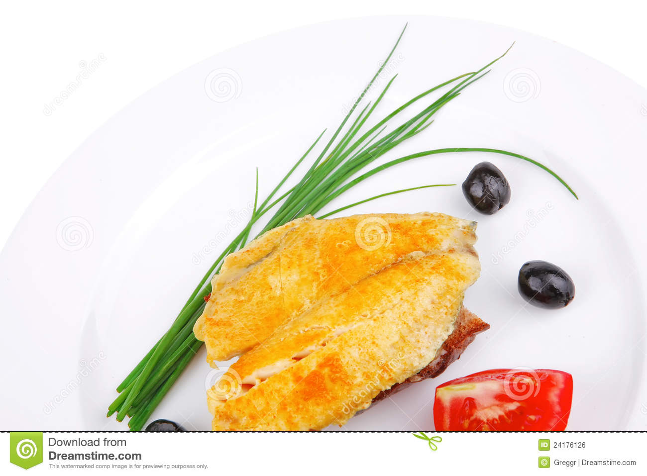Main portion served roast golden fish fillet royalty free for Fish on main