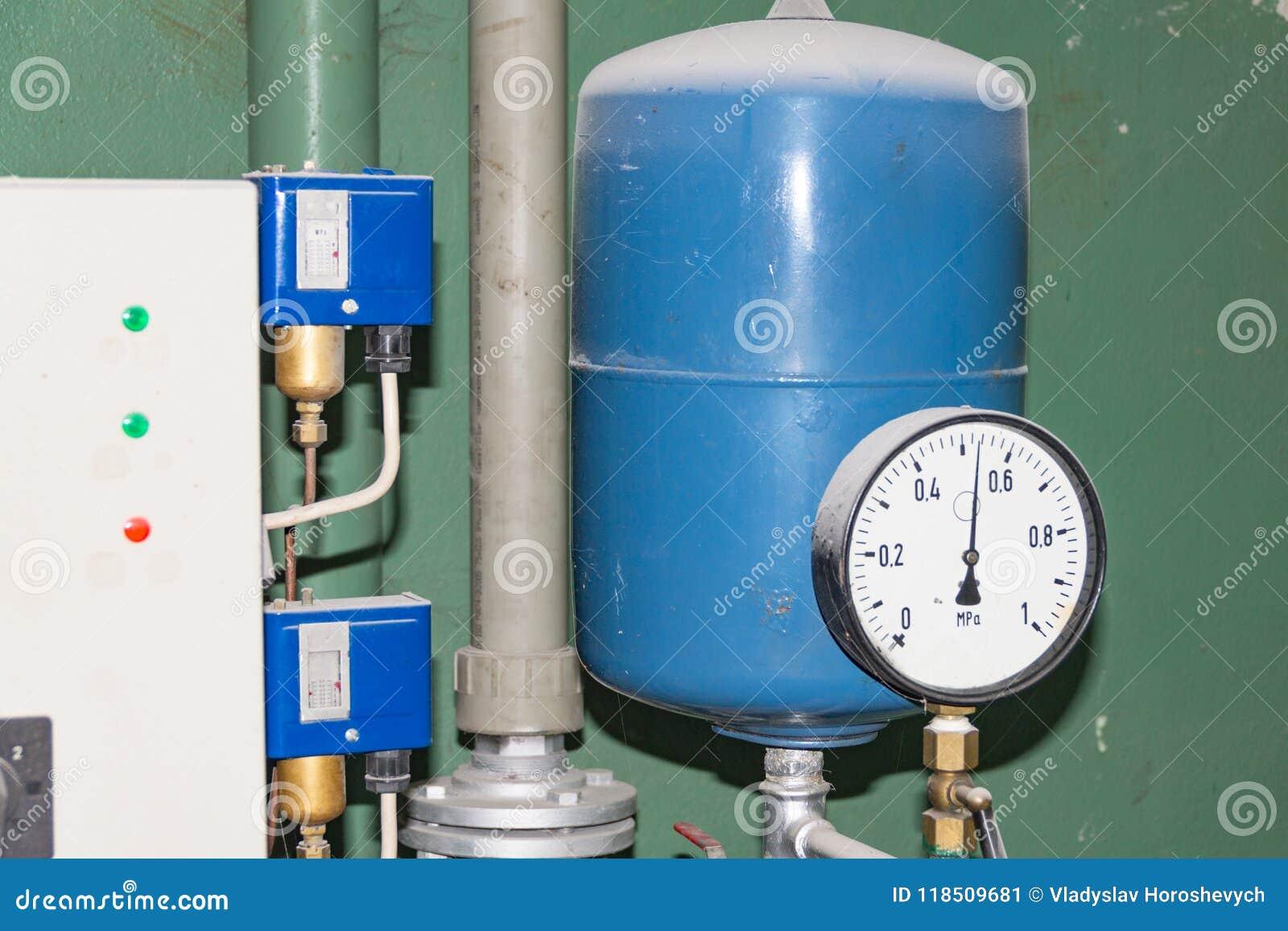 Main Pumping Station, Hot Water, Air Pressure Sensor Stock Image ...