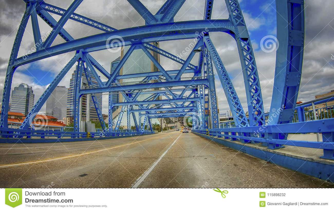 Main Street Bridge As Seen From A Moving Car, Jacksonville, Florida