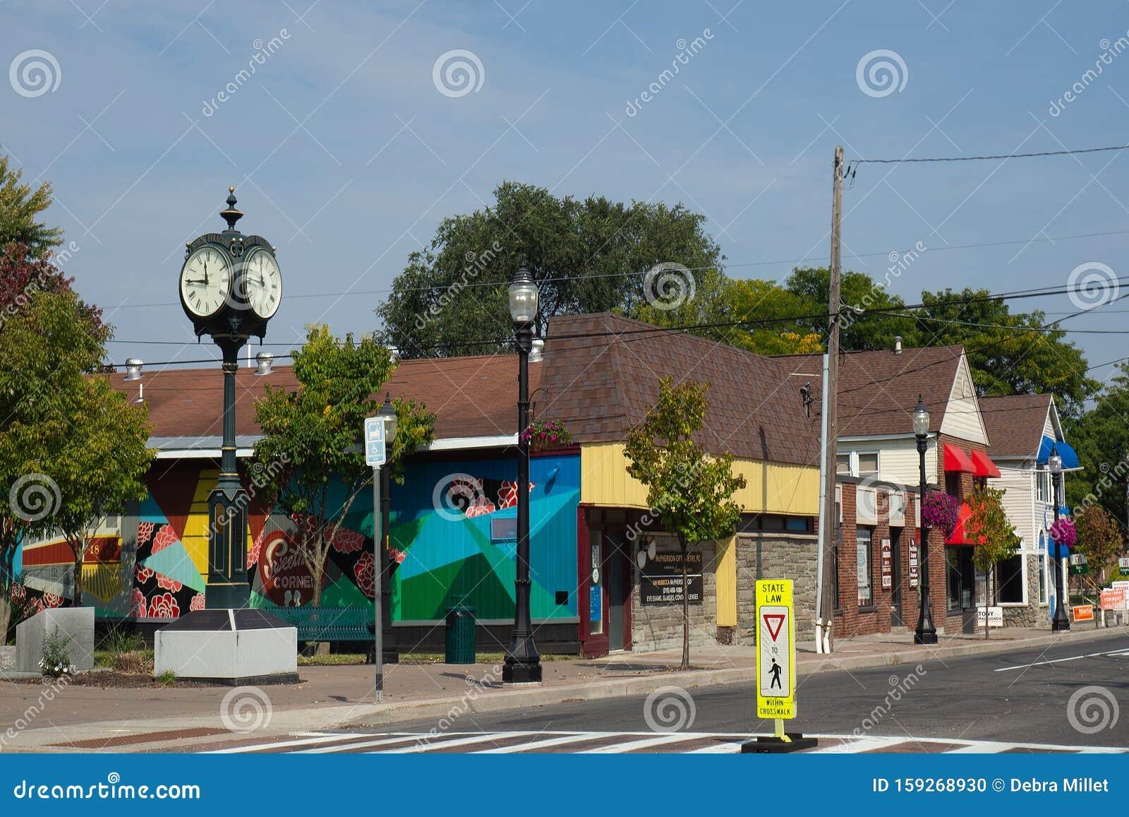 Main Street, North Syracuse Editorial Image - Image of ...