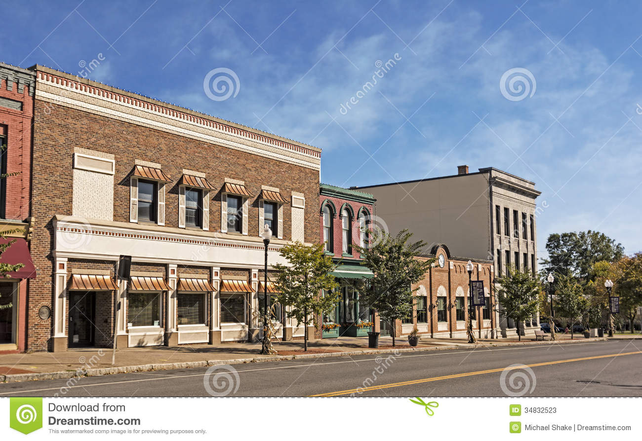 Main Street Stock Image Image Of Historic Town Clouds