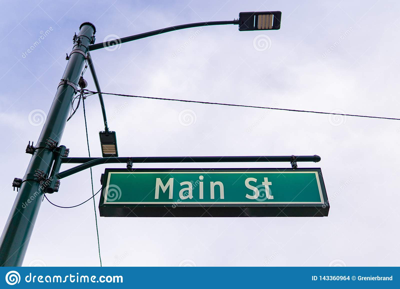 Main street sign downtown