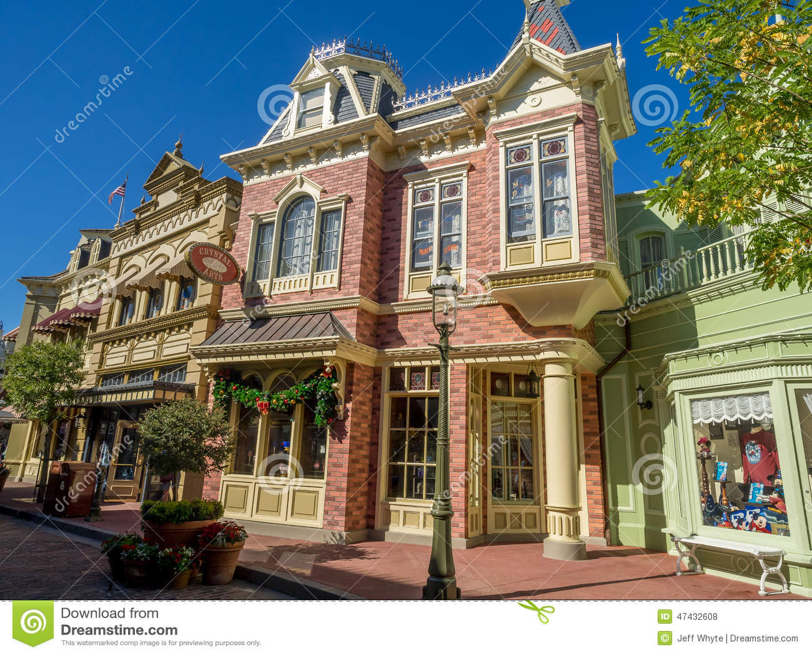Main Street Usa Magic Kingdom Editorial Stock Photo