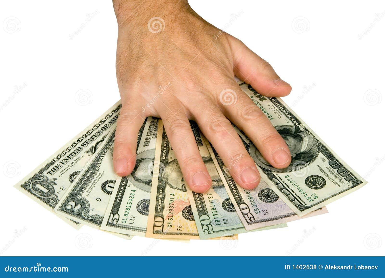 Main sur des dollars