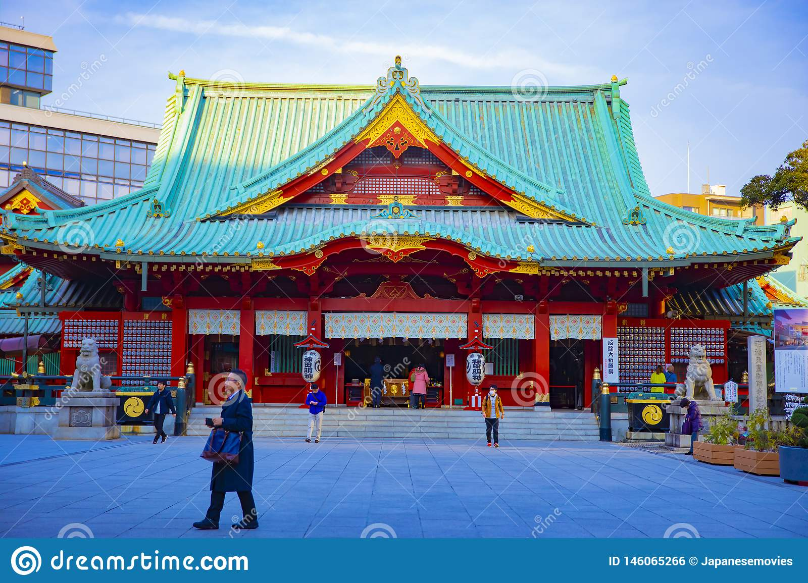 Main temple at Kanda shrine in Tokyo