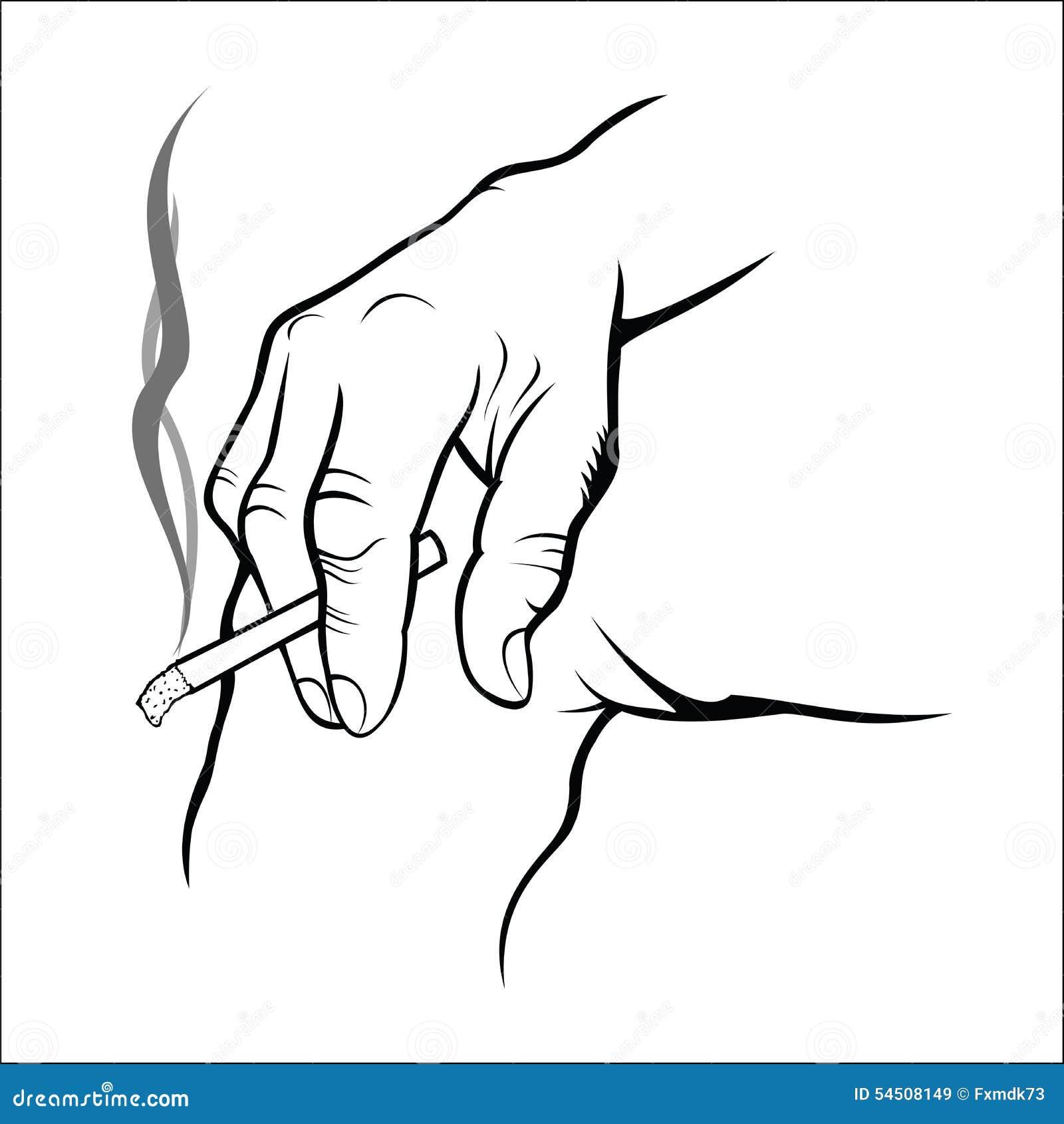 Main tenant la cigarette