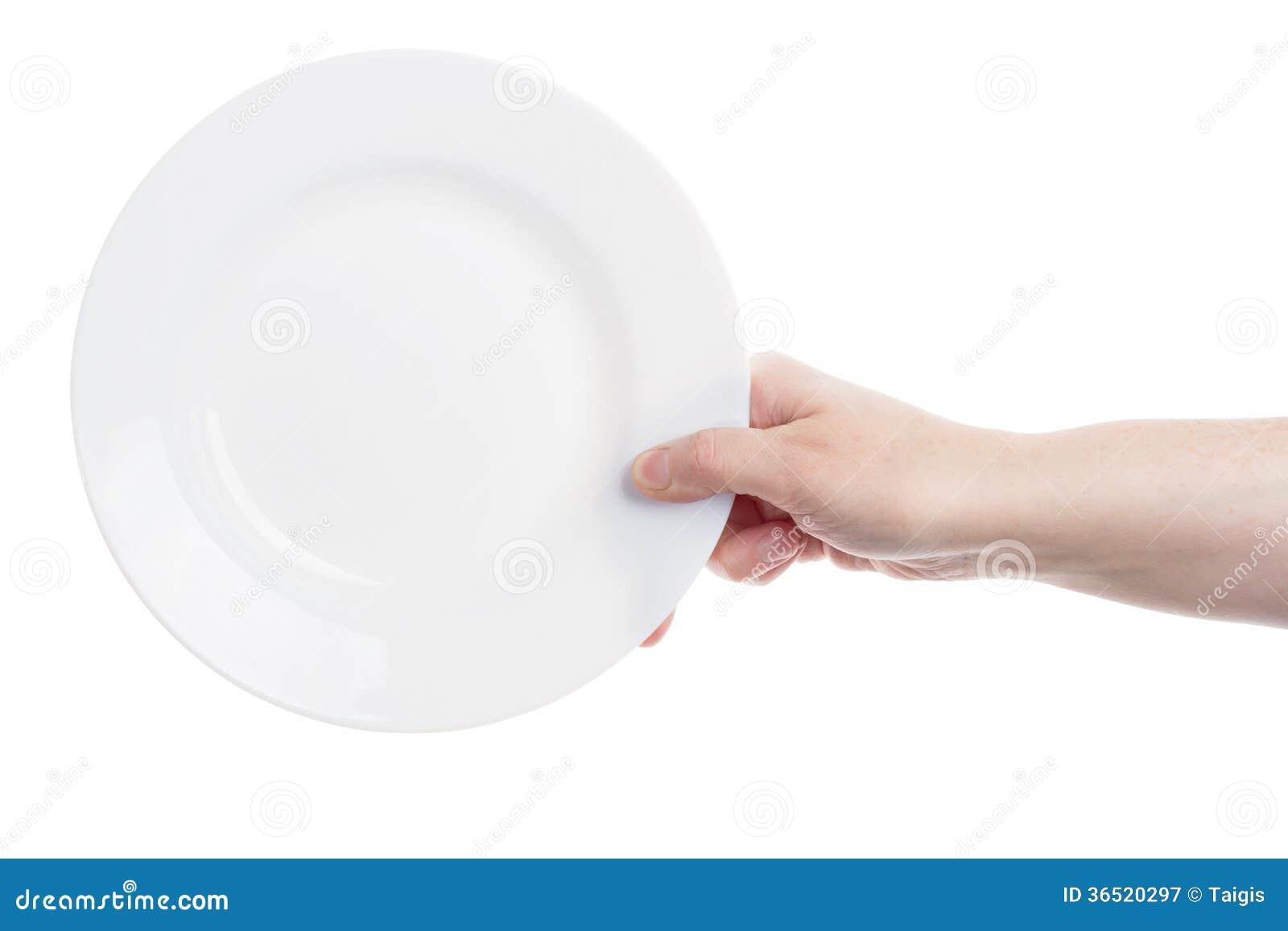 Main tenant le plat