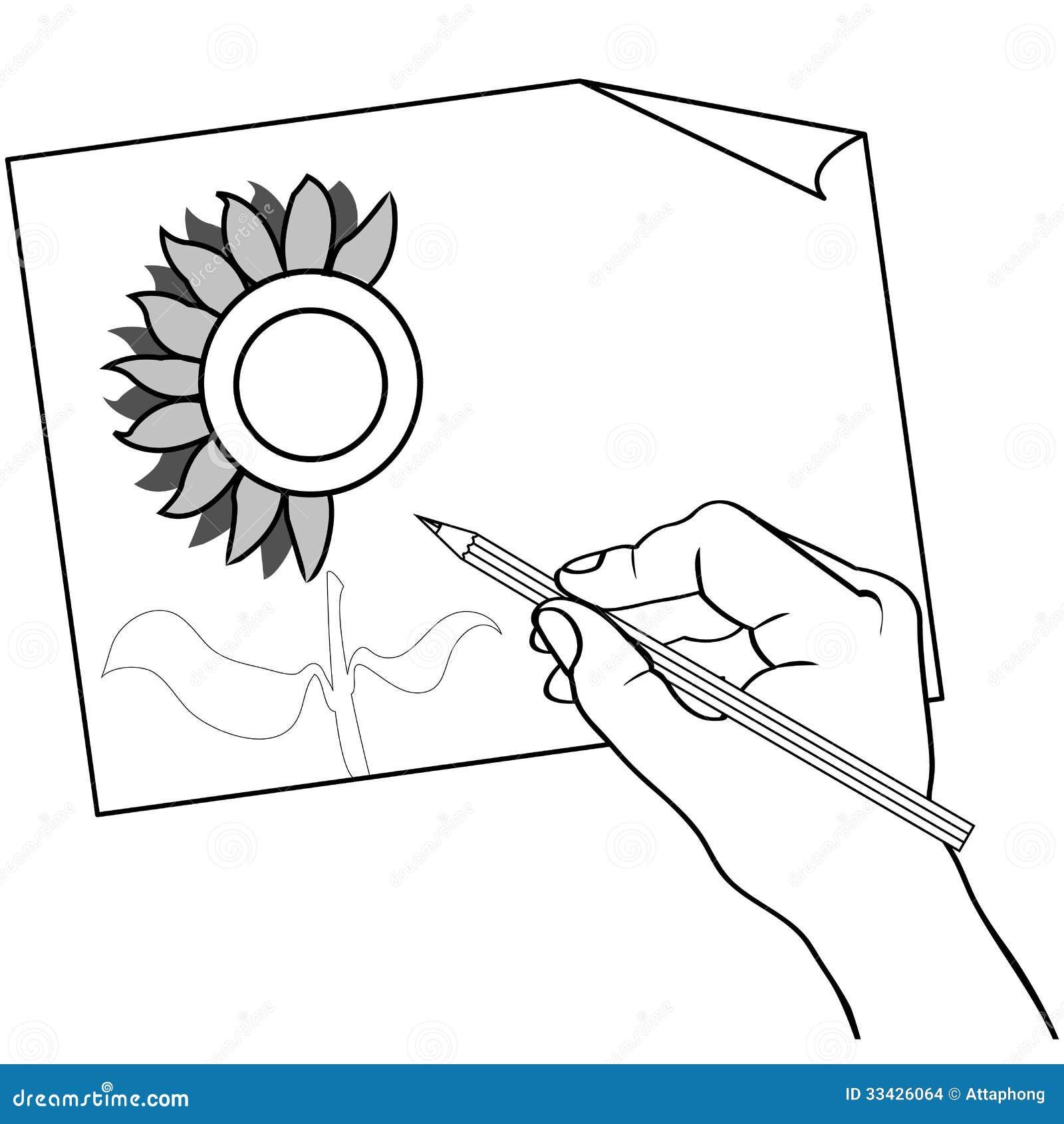 Main tenant le vecteur d 39 ensemble de dessin au crayon de - Main dessin crayon ...