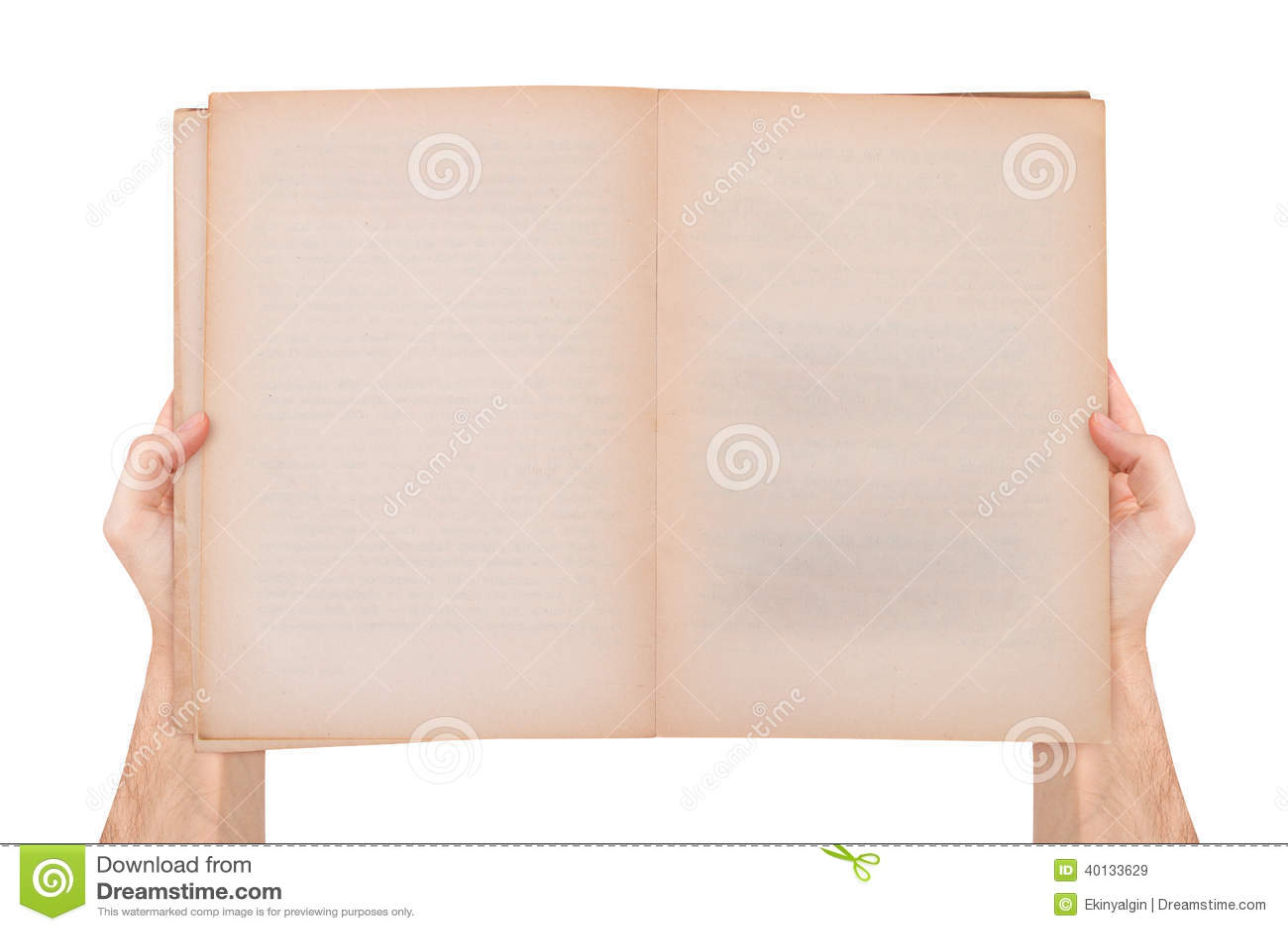 Main Tenant Le Vieux Livre Ouvert Vide Image Stock Image