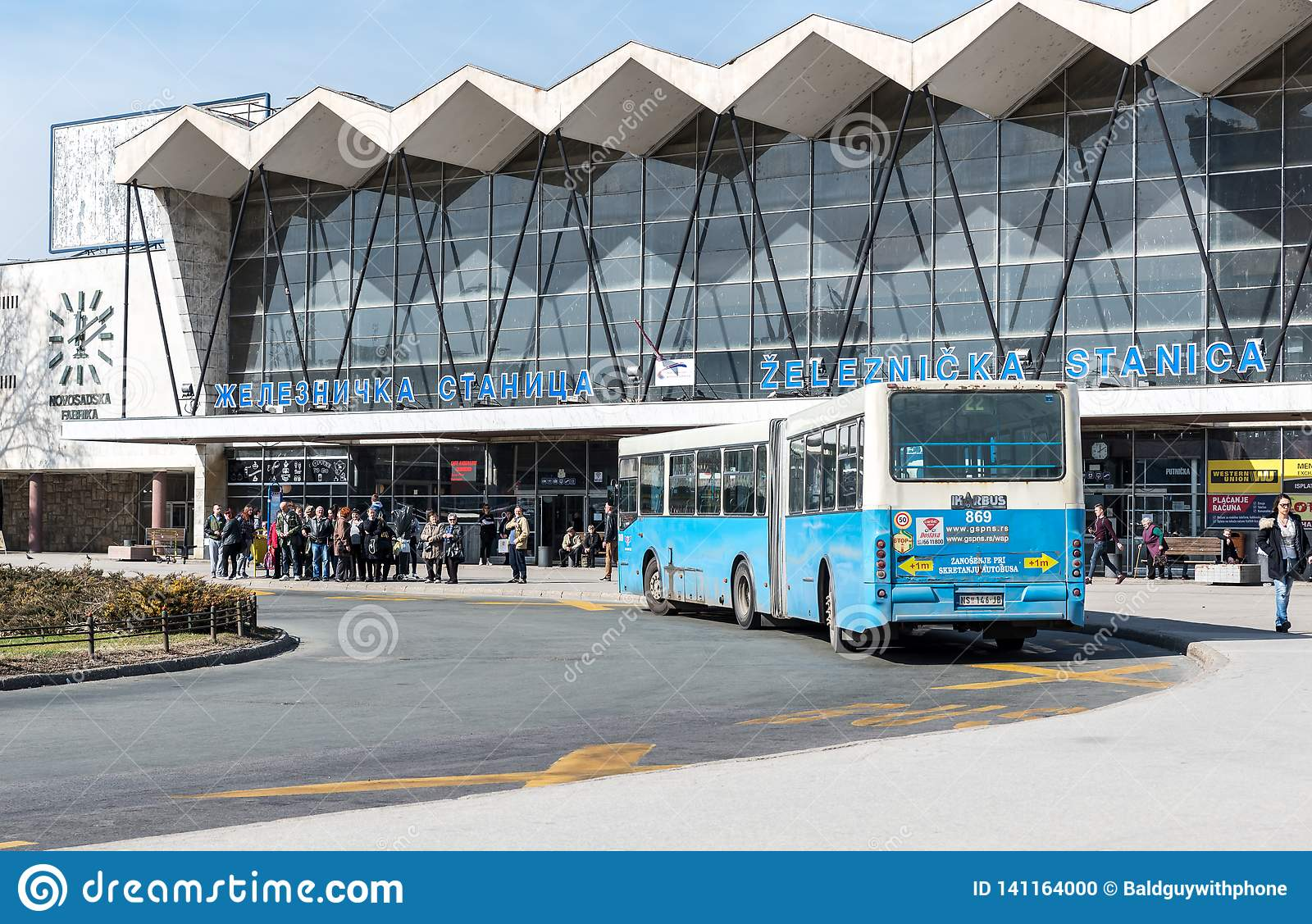 Main Train And Bus Station In The City Of Novi Sad With People Waiting For The Transportation Editorial Image Image Of People Landmark 141164000