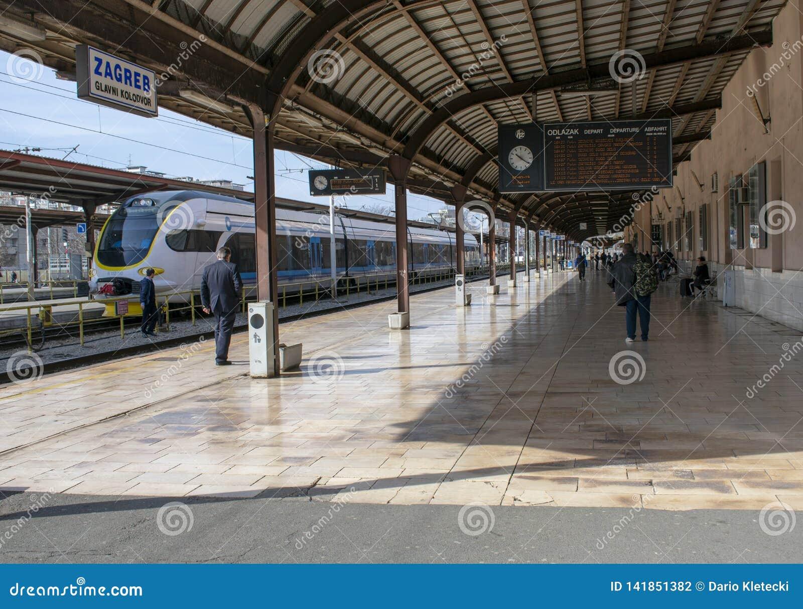 Main train station in Zagreb, Croatia