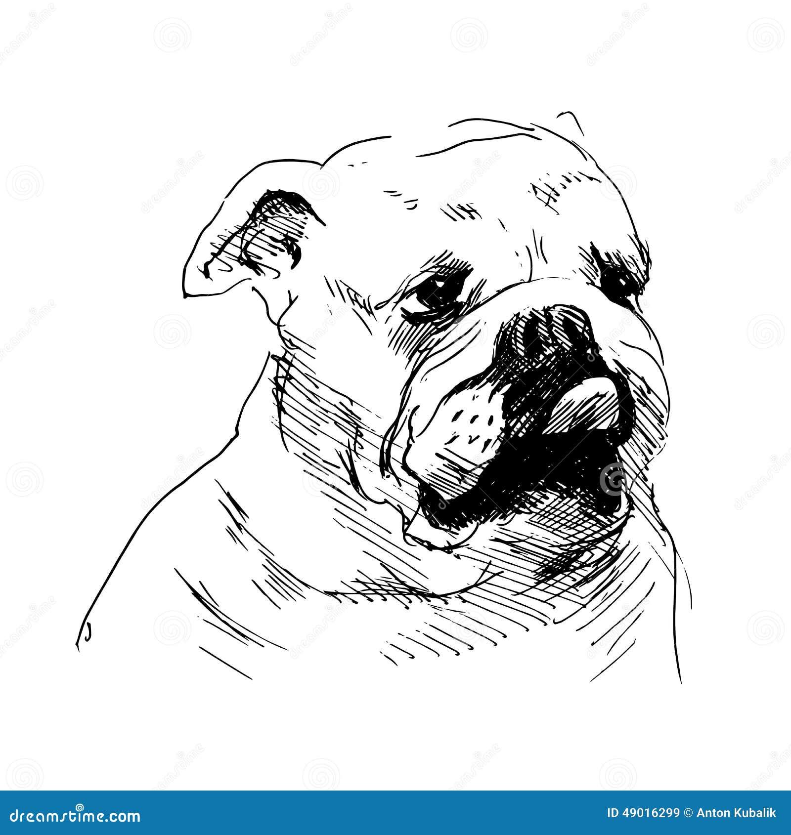 Main une t te de chien de dessin illustration de vecteur - Dessin tete de chien ...