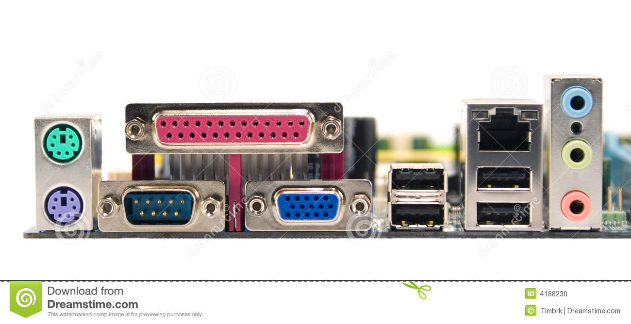 Mainboard Connectors Stock Photo Image Of Socket Mouse
