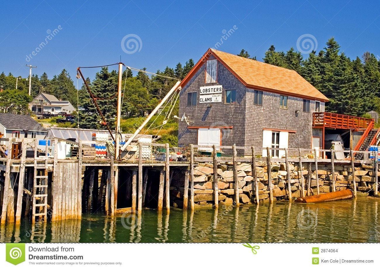 Maine Fishing Wharf Stock Images Image 2874064