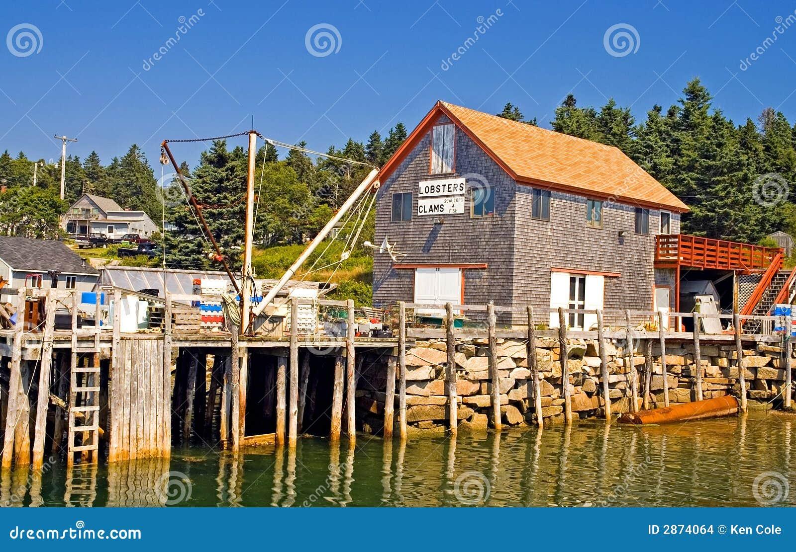 Maine Fishing Wharf Stock Images - Image: 2874064