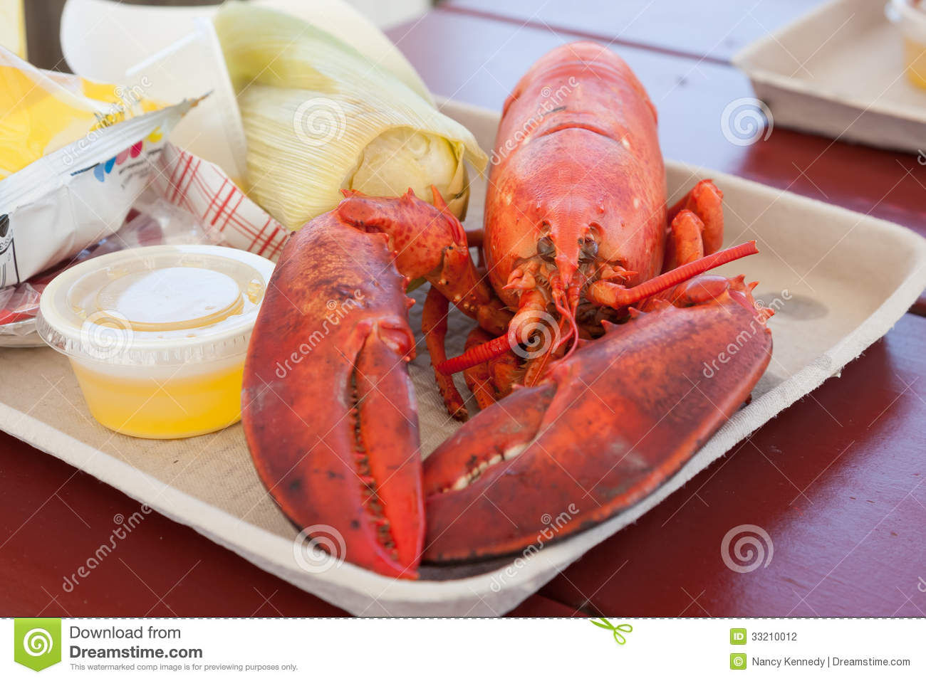 Maine lobster stock photography image 33210012 for Best time to visit maine for lobster