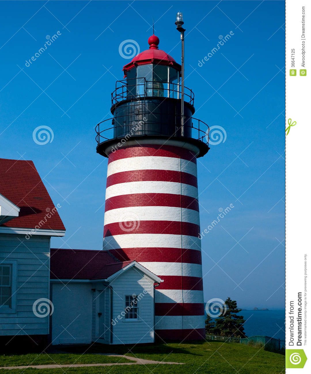 Maine's Easternmost Lighthouse Stock Image